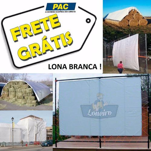 Imagem 1 de 5 de Lona 15x10 Branca Cobertura Chuva Camping Tenda Festa Evento