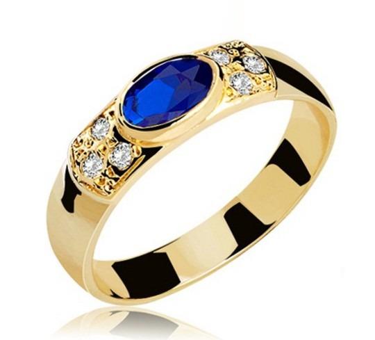 Anel De Formatura Ouro Amarelo 18k ( Pedra/diamantes Natura