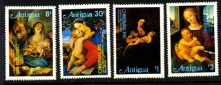 0803 Pinturas Virgen María Antigua 4 Sellos Mint N H 1981