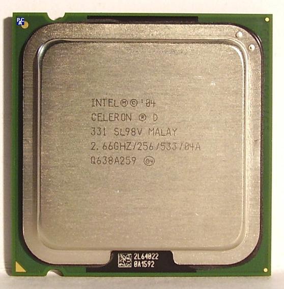 Processador Intel Celeron D Socket 775 - 2.66ghz Sl98v