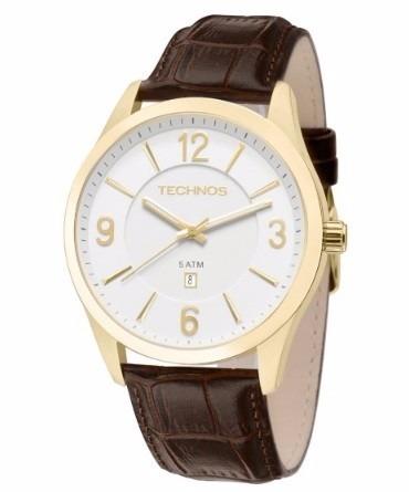 Relógio Technos Masculino Classic 215bze/2b Couro