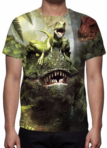 Camisa, Camiseta O Mundo Perdido Jurassic Park Estampa Total