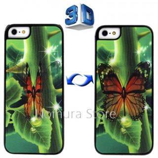 Capa Celular iPhone 5 3d Borboleta Bate As Asas Acrílico