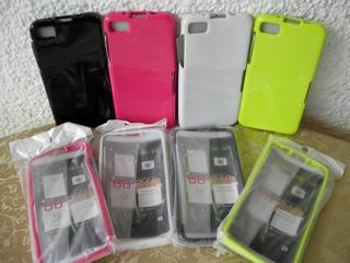 Protector De Gel Para Blackberry Z 10 Colores Varios