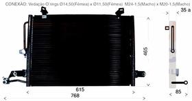 Condensador Audi A6 94/95/96/97/98/99 1.6/1.8 - Novo S/juros