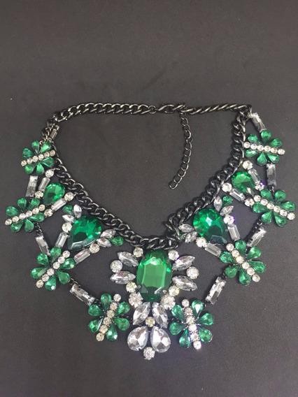 Maxi Colar Cristal Green