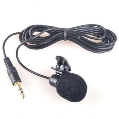 Microfone De Lapela Com Cabo Extensor De 3 Metros