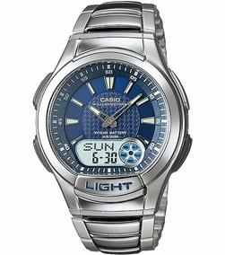 Relógio Casio Aq-180 Wd Digital Análogo Mundial Telememo Az