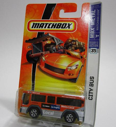 Bus Metro Los Angeles Escala 7cm Largo Coleccion Matchbox
