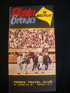 Tourada Fiesta Brava Folheto Publicação Antiga Mexico