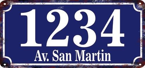Fábrica Carteles Calle Y Número De Domicilio 38x18cm Nu-1a