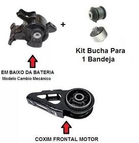 2 Coxim Calço Cambio Motor Bucha Bandeja Honda Fit Mecanico