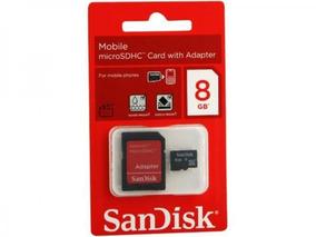 Frete Grátis! Memória Micro Sd 8gb Sandisk + 1 Adaptador