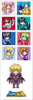 Plancha De Stickers De Anime De Saint Seiya (2) Shun Ikki