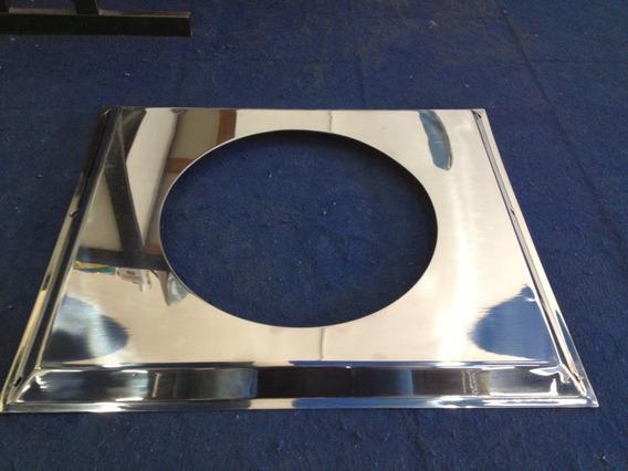F100 F350 V8 Defletor Inox Radiador 62cm Horiz 53cm Vert