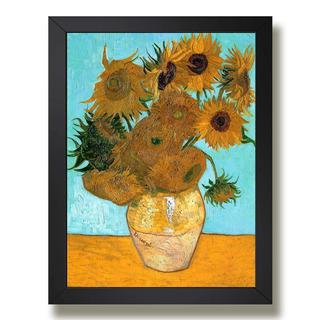 Quadro Van Gogh Vaso Com Girassois Decor Sala Poster Moldura