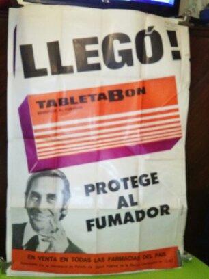 Afiche De Publicidad Tabletabon Beneficia Al Fumador