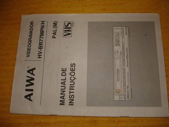 Manual Original Video Cassete Aiwa Hv-br77