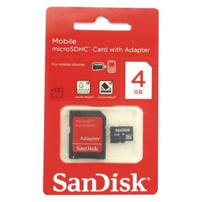 Memória Micro Sd 4gb Sandisk + 1 Adaptador