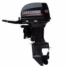Motor Popa Kawashima 40 Hp Partida Eletrica.