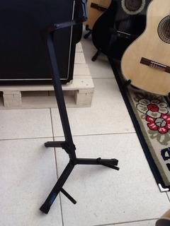 Suporte Violão E Guitarra Com Regulagem E Trava