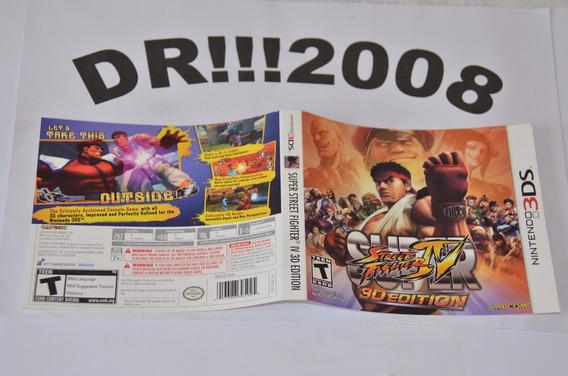 Encarte Street Fighter 4 Original P/ Nintendo 3ds!!!