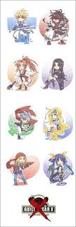 Plancha De Stickers De Anime De Guilty Gear