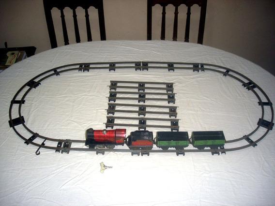 Trem A Corda Inglês Hornby Meccano Completo Brinquedo Antigo
