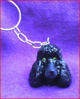 Lindo Chaveiro De Poodle Preto - Cachorro Cães De Raça