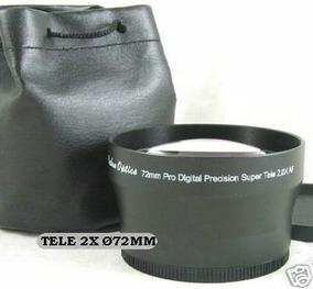 Lente Tele 2x 72mm 67mm 62mm 18-105 18-135 Canon Nikon Sony