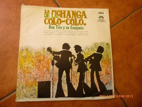 Vinilo Lp De Don Tito Y Su Conjunto - La Pichanga De L (u615