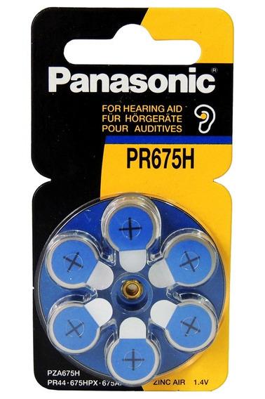 Panasonic Pr675h - Bateria Auditiva Cartela C/ 6 Unidades