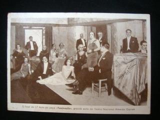 Cartão Postal Fascinação Teatro Nacional Publicação Antiga