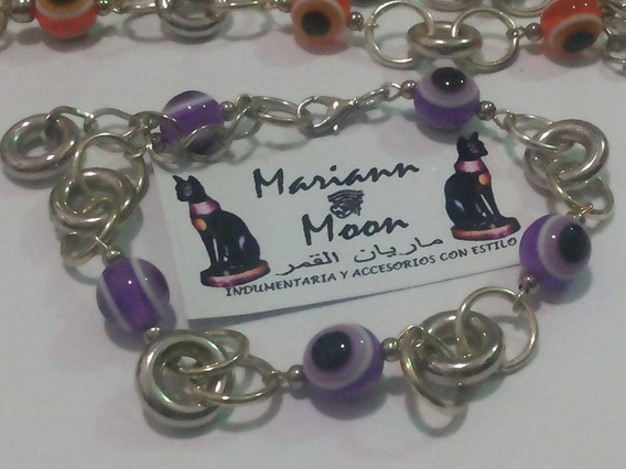 Pulsera Ojitos Turcos X Mayor X 6 *mariann Moon*