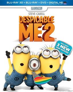Blu-ray Despicable Me 2 / Mi Villano Favorito 2 3d 2d Dvd