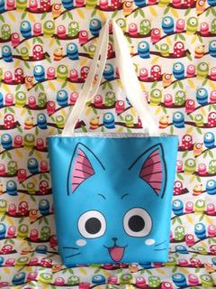 Mini Tote Bag Cartera De Anime Fairy Tail Happy Cute