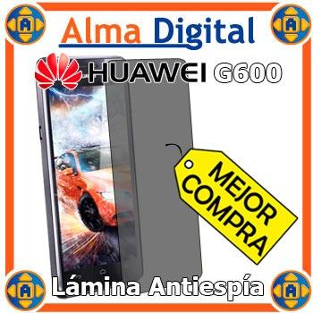 Lamina Protector Pantalla Antiespia Huawei G600 Antichisme