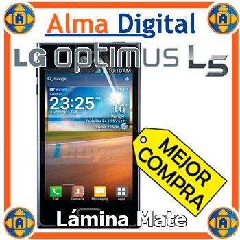 Lamina Protector Pantalla Mate LG Optimus L5 Antihuella +pañ