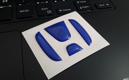 Aplique Emblema Honda Azul Resinado Para Volante Civic
