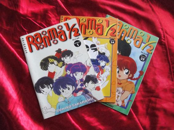 Manga Ranma 1/2 Primeira Publicacao Rara Nr 01 Nr 24 Nr 25