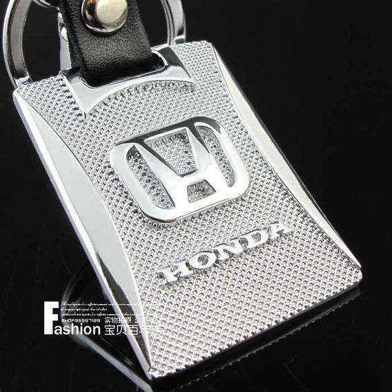 Chaveiro Honda Cromado E Couro - Novo Modelo !!! Top !!!