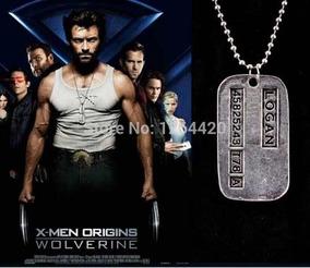 Colar Wolverine Dog Tag Placa De Metal Logan X-men