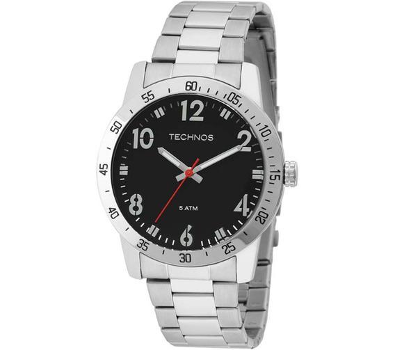 Relógio Masculino Technos Military 2035lws/1p Preto E Prata