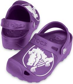 Pantufa/sandália Crocs Kids Gabe Dahlia Original!