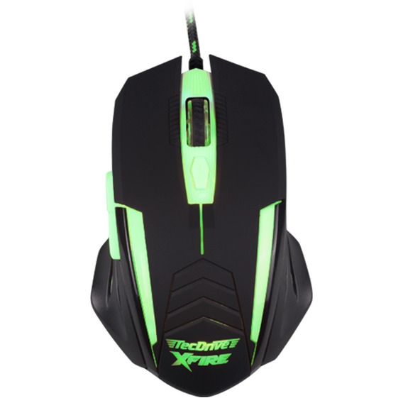 Mouse Gamer Tecdrive Xfire Shinigami 3200dpi Led Verde