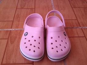 Sandalias Crocs De Niña Color Rosadas