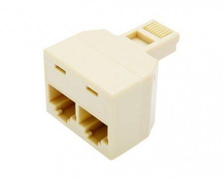 Plug Jack Modulador 2 Rj45 Fêmea X Rj45 Macho