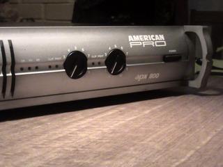 American Pro Apx 800 Amplificador