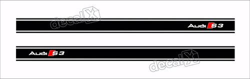 Par Adesivo Audi A3 Faixa Decorativa Lateral Imp8