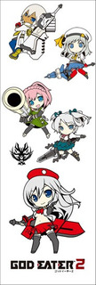 Plancha De Stickers De Anime God Eater